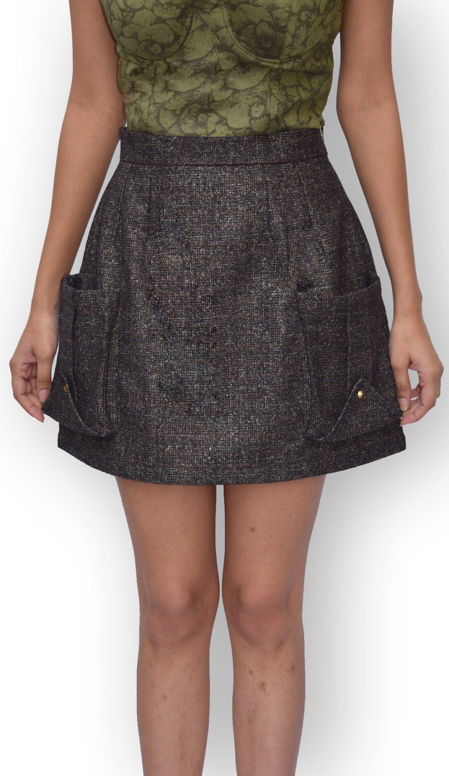 Inverted Pocket Mini Skirt