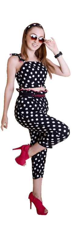 Polka Dot Set of Pant and Brallette
